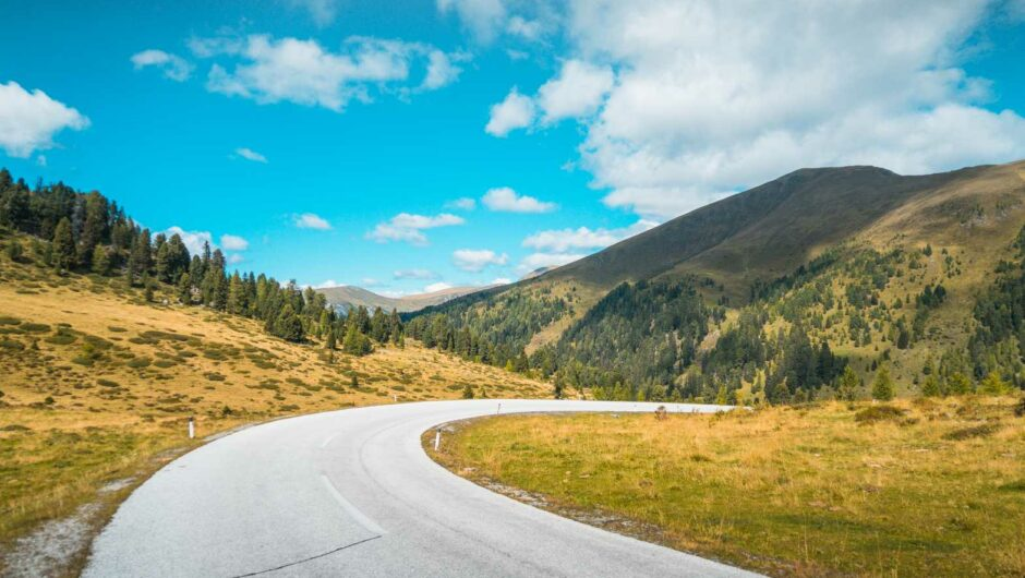 Just another Empty Road in Austrian Mountains